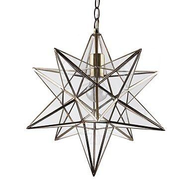 Star Lantern Antique Brass Ceiling Pendant - Ceiling lights - Lighting - Home & furniture -