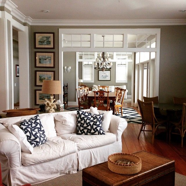 30 Inspirational Interior Design Color Schemes: Repose Gray Paint Color SW 7015 By Sherwin-Williams. View
