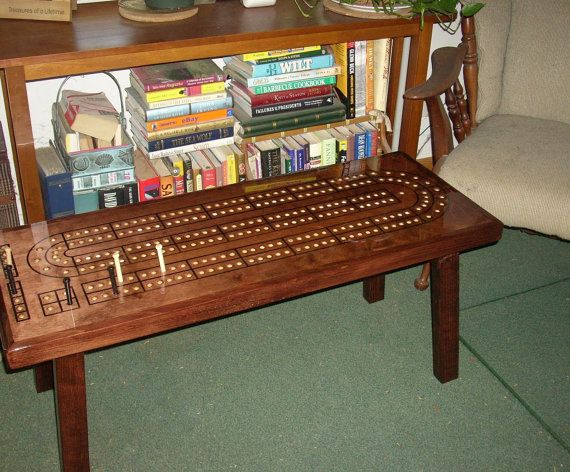 cribbage table cribbage board coffee table mahogany minwax stain father cribbage board. Black Bedroom Furniture Sets. Home Design Ideas