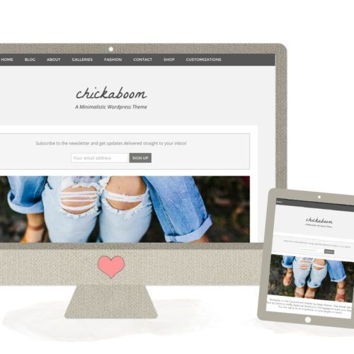 Meet the Chickaboom, one of Our Modern Wordpress Themes for Women Who Want a Modern Blog Design With A Feminine, Boutique Feel.
