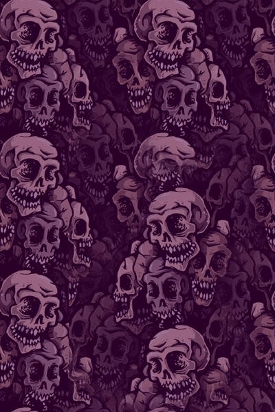 Purple Skulls wallpaper