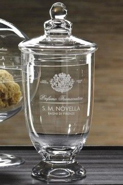 Novella Glass Jar with Lid traditional-bathroom-canisters