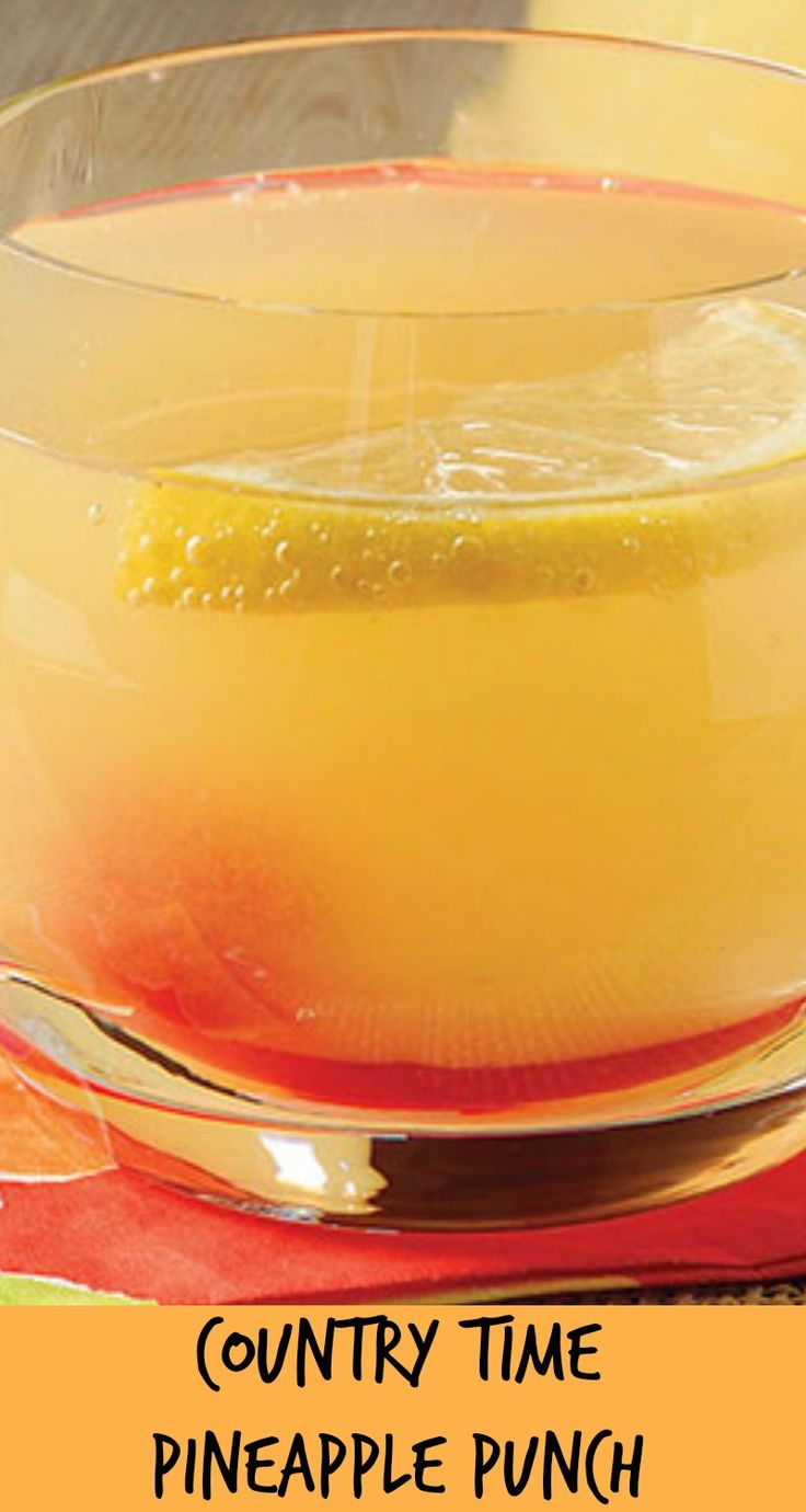Enjoy a cool and refreshingly fizzy pineapple punch! COUNTRY TIME Pineapple Punch is proof positive that lemonade flavor drink mix is not just for kids. Print Country Time Pineapple Punch Ingredients 1 can pineapple juice 48 oz., chilled 2 cans carbonated lemon-lime beverage 12 oz. each, chilled 2 cups cold water 1/2 cup COUNTRY …