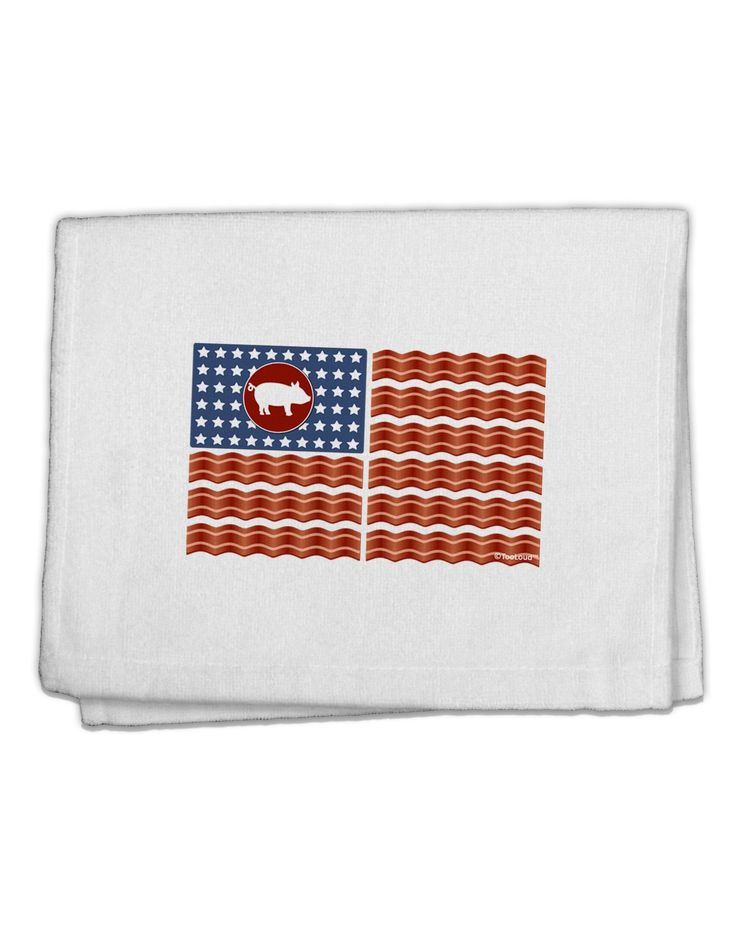 "American Bacon Flag 11""x18"" Dish Fingertip Towel"