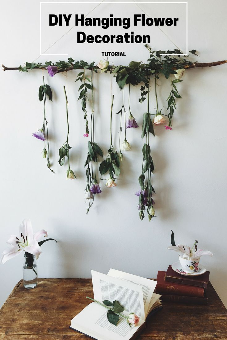 A super simple guide to making your own DIY hanging flower decoration. Perfect for parties, weddings, or for use as a photo prop.