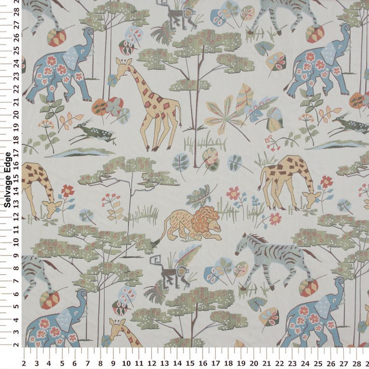Whimsical safari upholstery fabric is great for a nursery for Upholstery fabric children