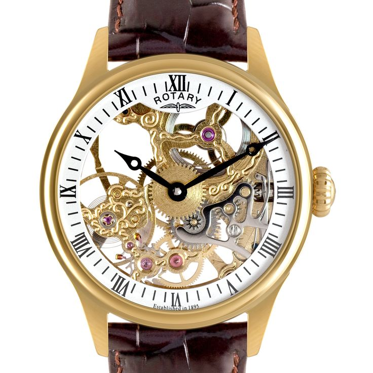 Rotary Mens PVD gold plated Skeleton watch - GS02520/03 | Rotary Watches