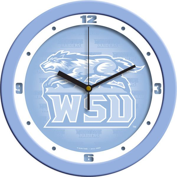 Mens Wright State Raiders - Baby Blue Wall Clock