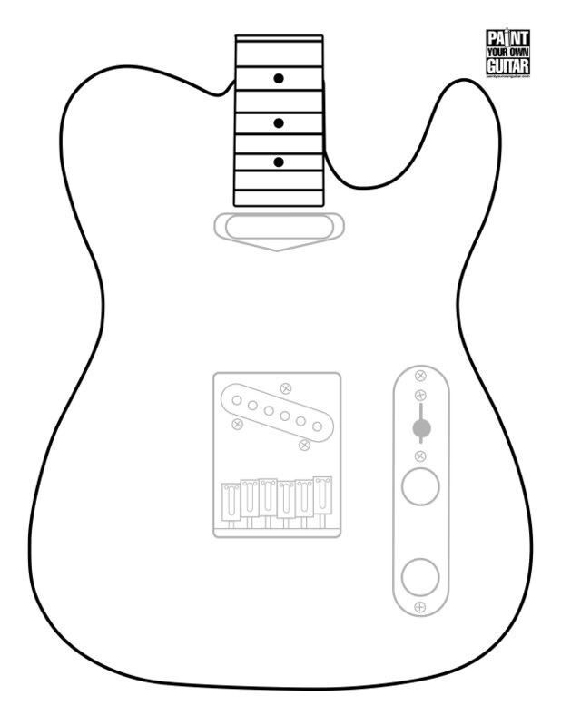 It is an image of Gargantuan Printable Guitar Templates