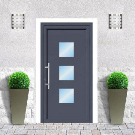 Best PORTES DENTREE Images On Pinterest Front Doors Driveway - Porte de garage sectionnelle avec porte d entrée pvc vitrée lapeyre