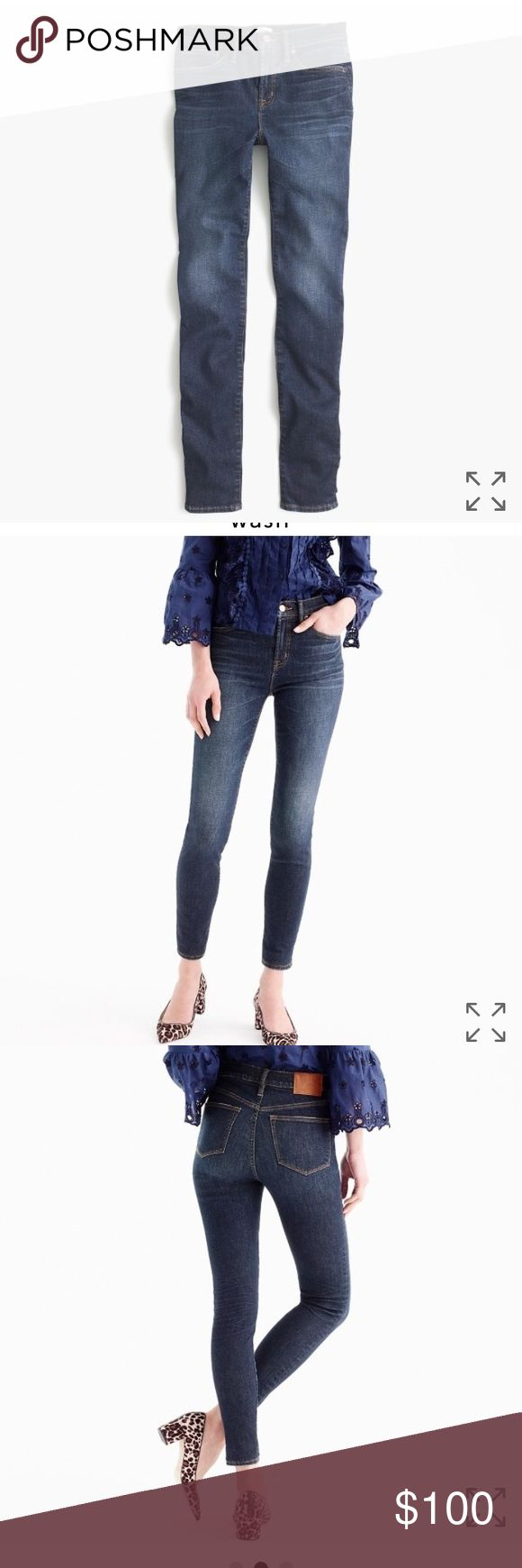 BRAND NEW JCREW | high-rise, soft denim LAST CHANCE! Currently full priced in stores. JCrew high-rise skinny denim. A classic favorite / great fit! Worn once - accidentally picked up the wrong size! Your lucky day :) J. Crew Jeans