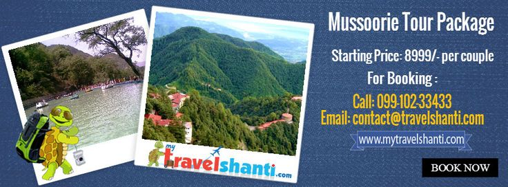Mytravelshanti.com offers a 2N/3D Mussoorie Tour package for stay at a beautiful 3* hotel. The package can be extended on pro-rata basis so that you can enjoy your holidays in Mussoorie.  Explore here: http://mytravelshanti.com/packages/india-leisure-holidays/mussoorie-tour-package
