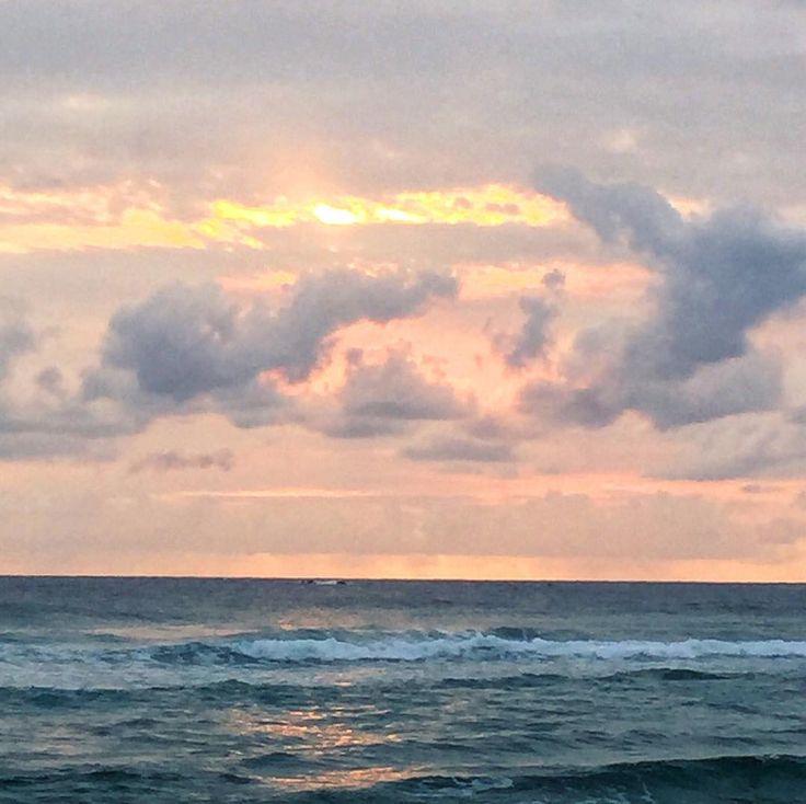 """""""I know I know for sure that #life is #beautiful around the #world."""" #Sunday #morning #pastel #sunrise at #Wizard #beach on #Bastimentos #island in #BocasDelToro #Panama.  #BubbasHouse #aroundtheworld #instago"""