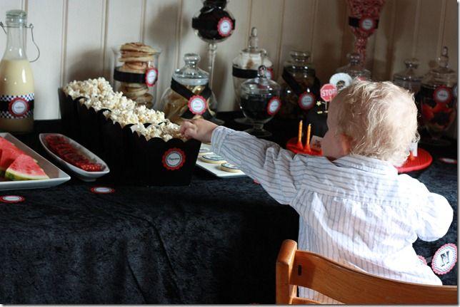 Sweet table cars party - dessertbord biler-bursdag