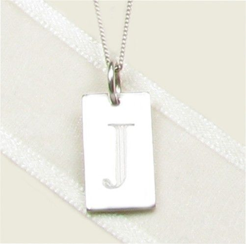 Templeton & May Sterling Silver Dog Tag Necklace for Christenings