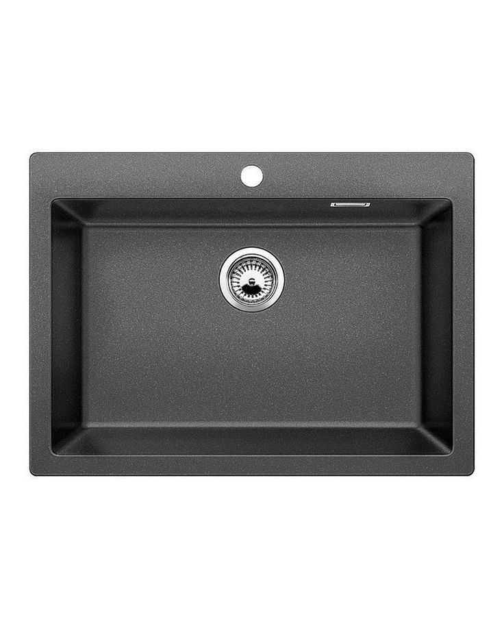 Sink Pleon 8 Anthracite A sink with a large trough that will allow you to easily wash in larger utensils such as a pan. It is combined with many accessories which will further facilitate your work.
