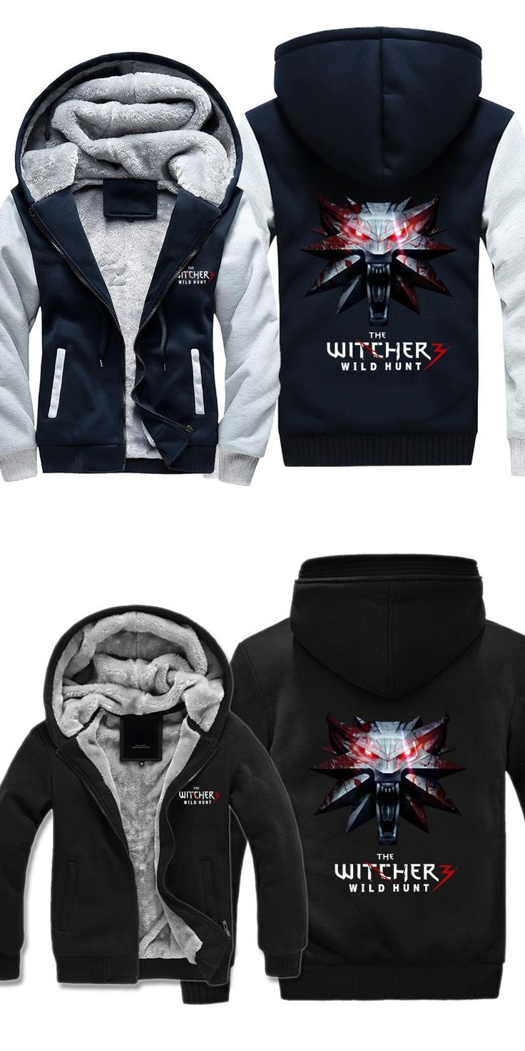 Free Shipping USA Size Men Women Hot Game Hoodies The Witcher 3: Wild Hunt Thicken Hoodie Zipper Coat Clothing Jacket