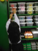 brilliant way to store yarn in the classroom-they can't make a mess of it!!!