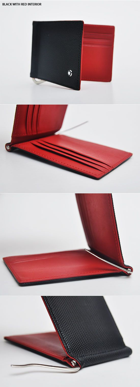 Accessories :: Wallets :: Uber-cool Sleek Cowhide Money Clip-Wallet 10 - Mens Fashion Clothing For An Attractive Guy Look