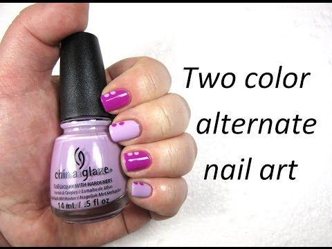 Two color alternative nail art - nailhubnz - YouTube www.youtube.com/user/nailhubnz/videos
