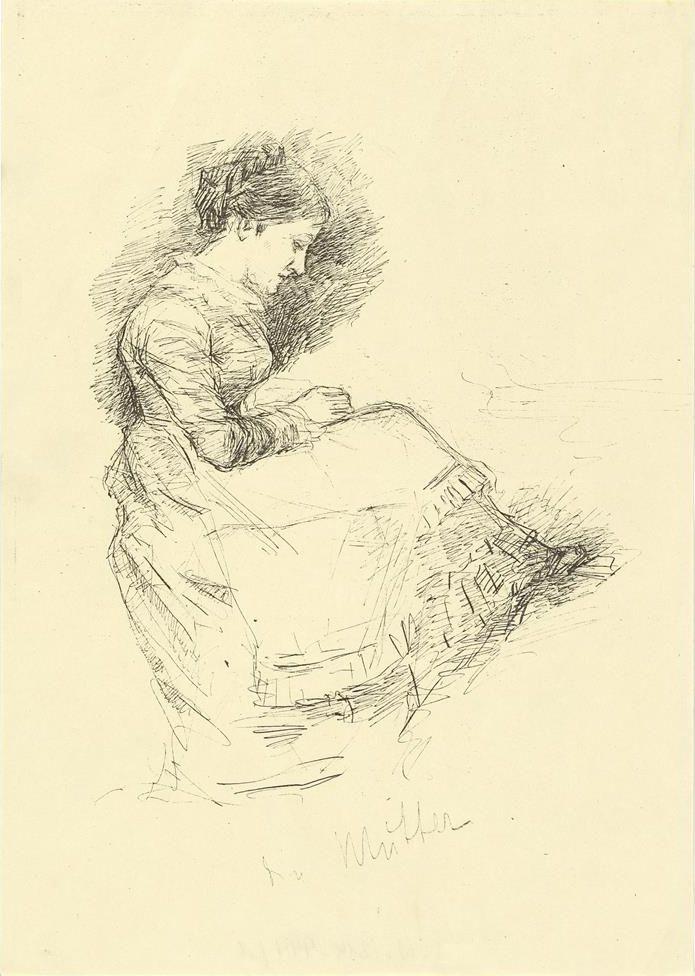 Josef Engelhart, Die Mutter, 19. Jh. , Lithographie © Wien Museum