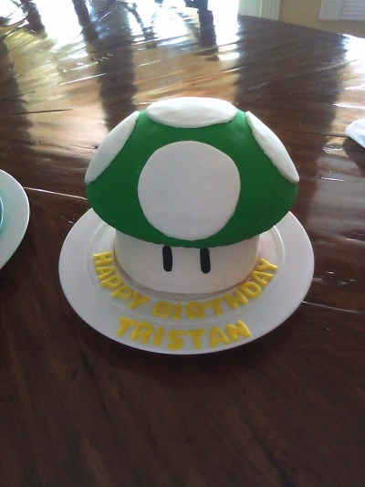 Super Mario Bros 7th Birthday Cake By Kali5 on CakeCentral.com