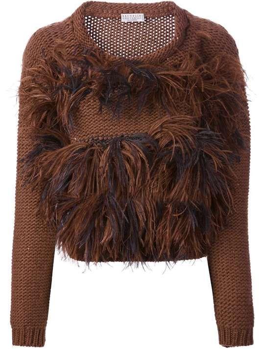 Brunello Cucinelli | BRUNELLO CUCINELLI feathered knit sweater #brunellocucinelli #feathered #sweater