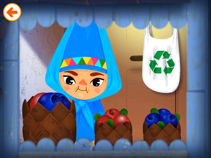 Lulu is sorting berries in Toca House by Toca Boca. http://itunes.apple.com/us/app/toca-house/id495680460?mt=8 #apps #kids #children #ipad #iphone #tocaboca #tocahouse