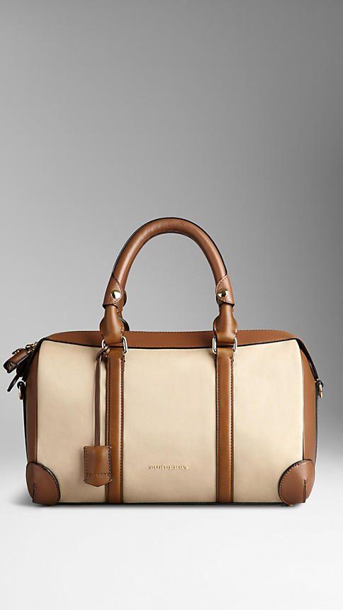 Medium Cotton Gabardine Bowling Bag from Burberry