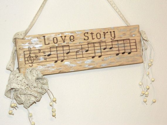Love Story Wooden Lace Flowers Home Decor Sign by WoodenDecorate, $29.90