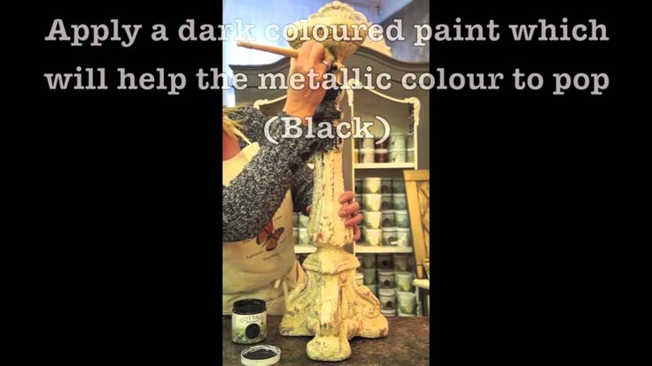 Cottage Paint Metallic Wax: How to add a Metallic finish to your furniture piece with Metallic Wax.
