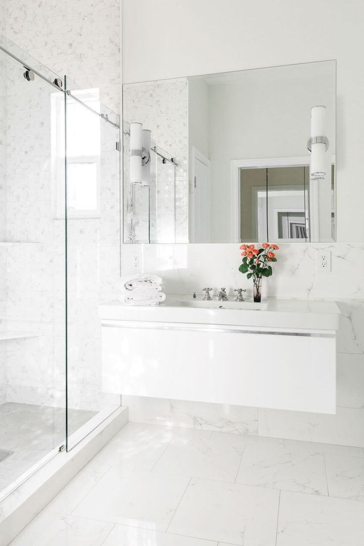 Tiny But Mighty Bathrooms Homepolish White Marble Bathrooms Contemporary White Bathrooms Marble Bathroom