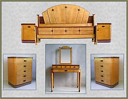 116 best images about Art Deco Bedroom Furniture on Pinterest