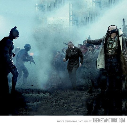 Bane presents Prince Charles to Batman…