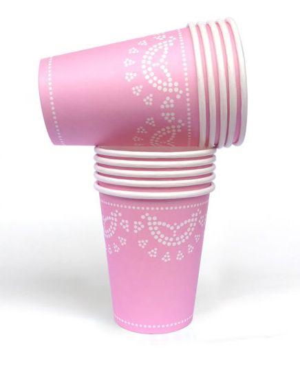 Channel your inner Martha Stewart with these divine pastel pink doily paper party cups!  #partyware #partycups #cups #event #styling #partyshop #partydecor #firstbirthday #wedding #engagement #bridalshower #babyshower #christening #teaparty #partytheme #paper #eventplanning #designerkids #designerbaby #homewares #designer #style #love #food #partyinspo #littlebooteekau #sundays #pink #doily