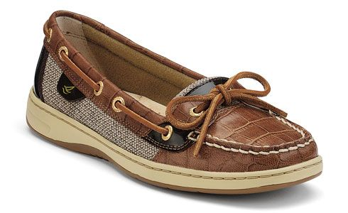sperry obsessed: Sperrys Women Angelfish, Sperry S, Slip On Boat, Style, Boat Shoes, Women S Angelfish, Tan Croc, Angelfish Slip On