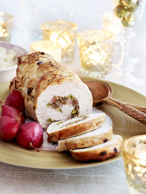 Gevulde kalkoenrollade met kastanjes en pistaches - Libelle Lekker