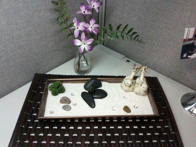 My cubicle zen garden cubicle sweet cubicle pinterest for Garden office cube