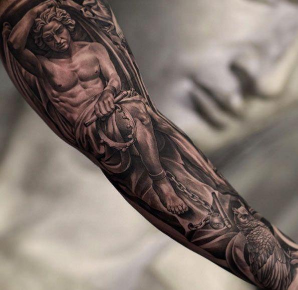 170+ Sleeve Tattoos Ideas For Men-Women [2017 Collection ... Fallen Angel Tattoo For Men