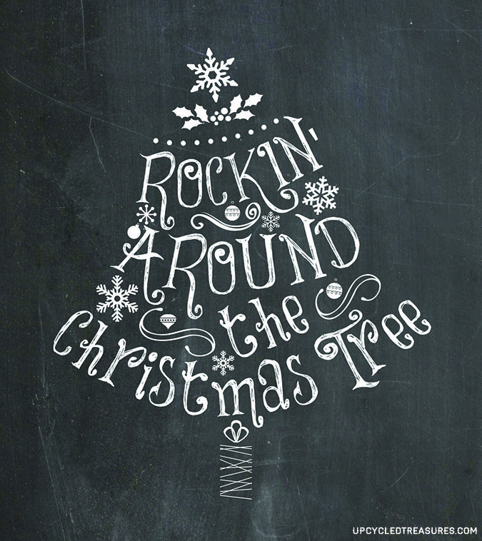 Click here for Free Chalkboard Christmas Printables! http://upcycledtreasures.com/2013/12/3-free-christmas-printables/