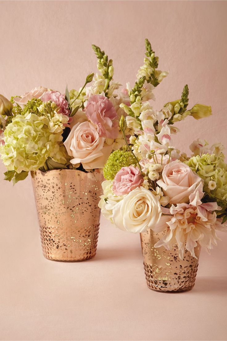 Late afternoon vases in gold from bhldn bridal shower