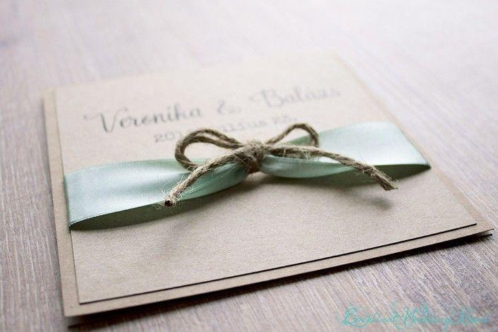 Rustic wedding esküvői meghívó