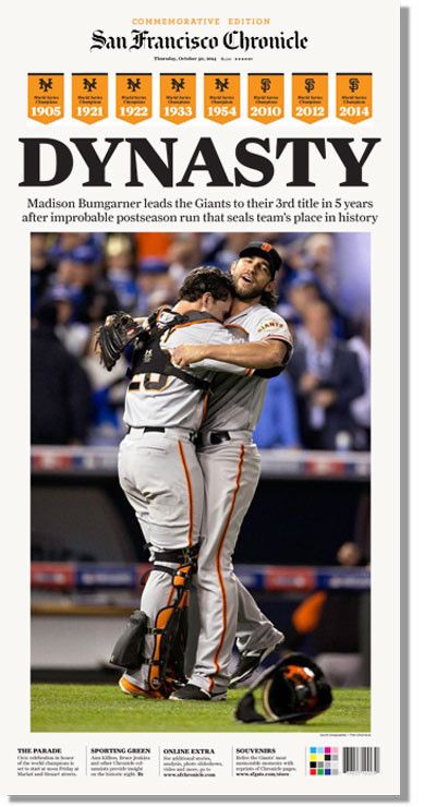 Don't miss out on your chance to get a copy of today's commemorative #SFGiants issue.