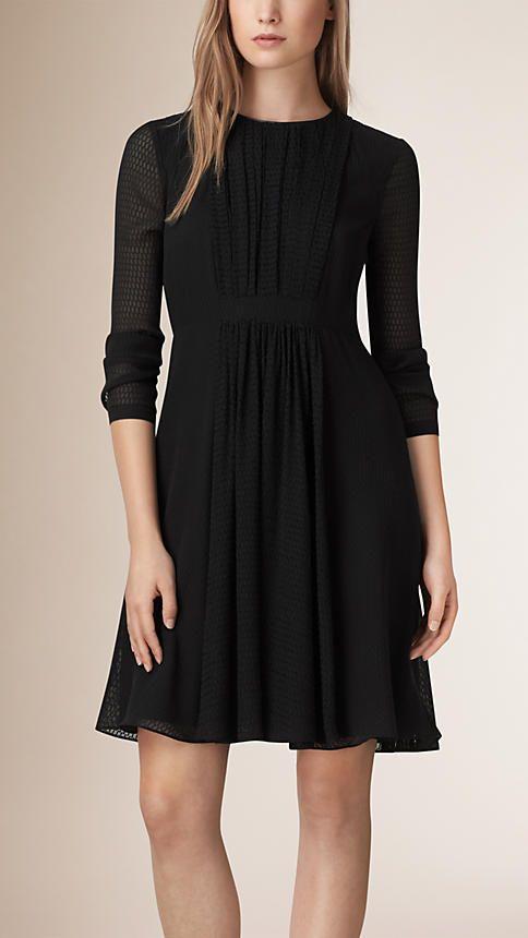 Burberry Silk Crepe Dress