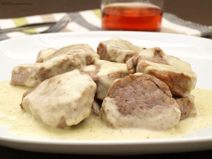 Tacos de solomillo ibérico a la mostaza - MisThermorecetas