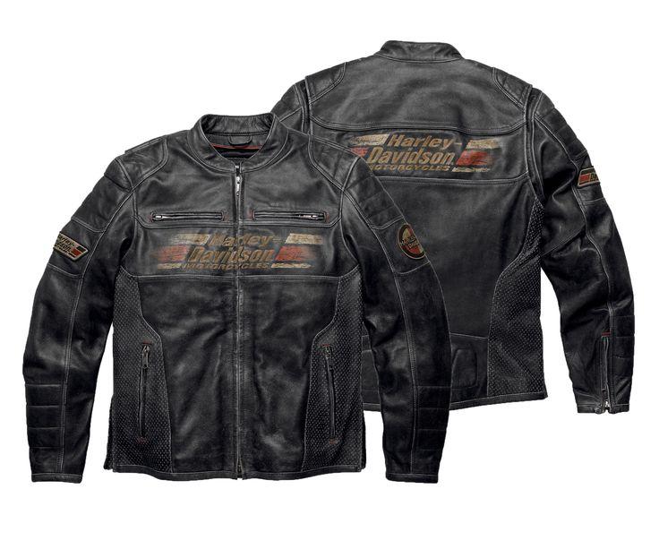 Harley-Davidson Men's Astor Leather Jacket: Available Sizes S, M, L, XL, 2XL, 3XL.