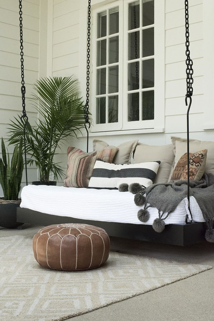 Outdoor Living Space 'Get the Look' | Outdoor hanging bed ... on Living Spaces Outdoor Daybed id=89181