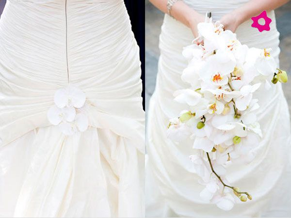 Bouquet orquídeas brancas