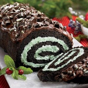 I made this Chocolate Mint Cake Roll for Christmas 2011 using my homemade whipped cream icing for the filling. It came out great, and was so easy!