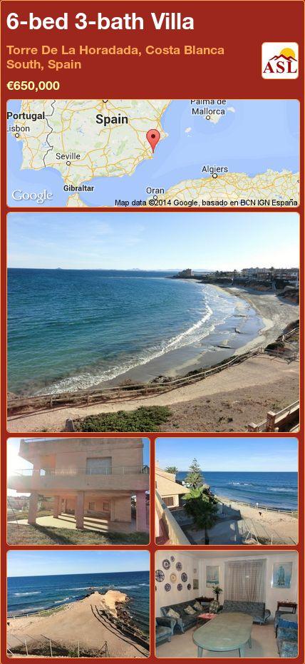 6-bed 3-bath Villa in Torre De La Horadada, Costa Blanca South, Spain ►€650,000 #PropertyForSaleInSpain
